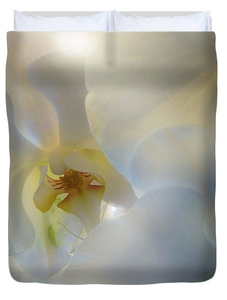White Orchids Duvet Cover by Mikki Cucuzzo