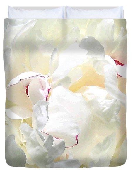 White Peony Duvet Cover by Will Borden