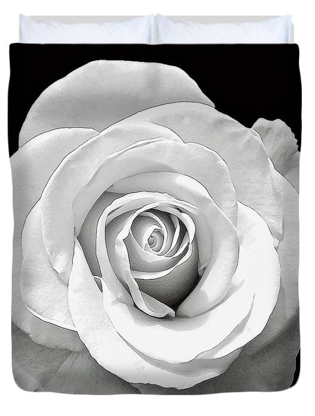 White Rose Duvet Cover by Aimee L Maher Photography and Art