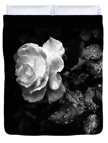 White Rose Full Bloom Duvet Cover by Darryl Dalton