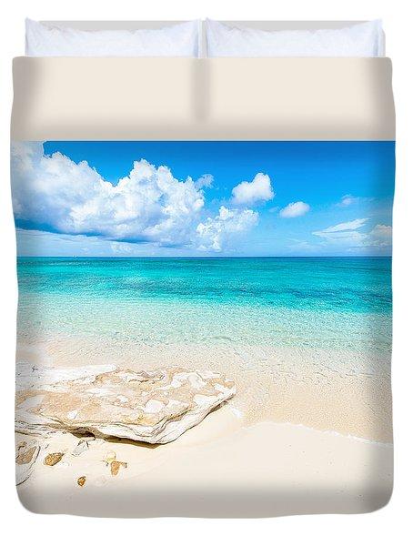 White Sand Duvet Cover by Chad Dutson