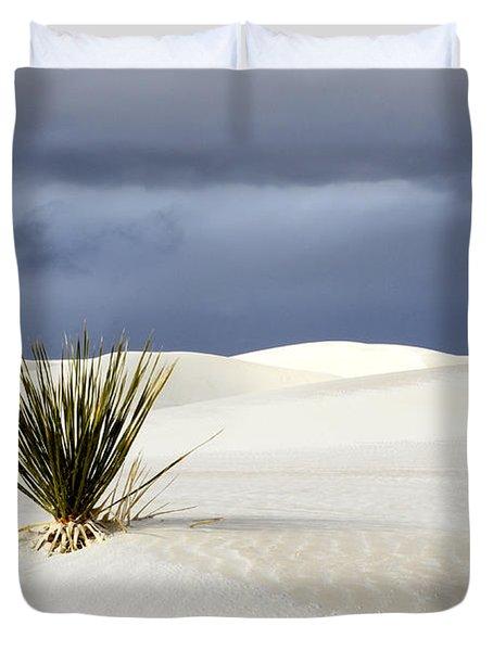 White Sands Dark Sky Duvet Cover by Bob Christopher