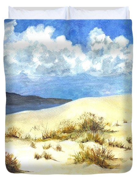 White Sands New Mexico U S A Duvet Cover by Carol Wisniewski