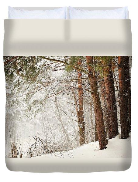 White Silence Duvet Cover by Jenny Rainbow