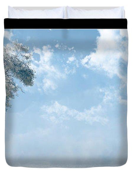 White Tree... Duvet Cover by Tim Fillingim