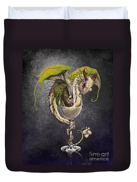 White Wine Dragon Duvet Cover by Stanley Morrison