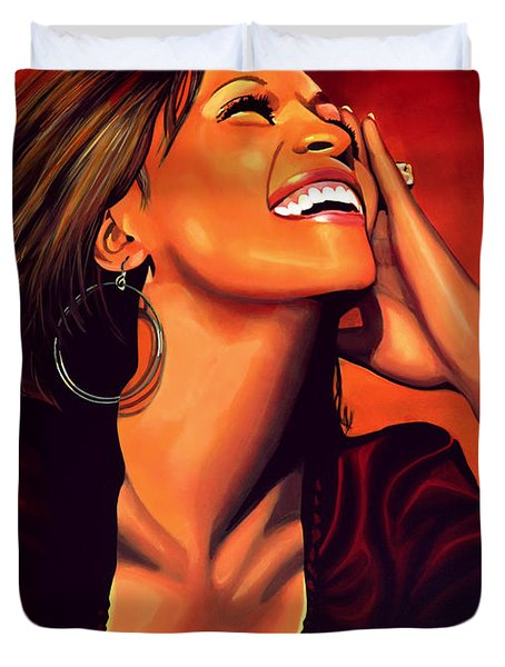 Whitney Houston Duvet Cover by Paul Meijering