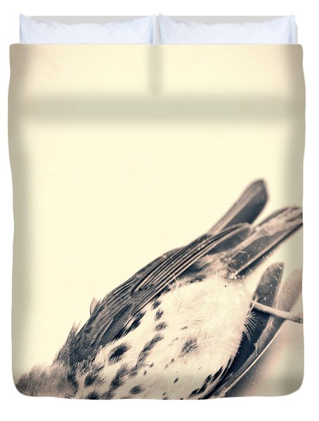 Who Killed Cock Robin Duvet Cover by Edward Fielding