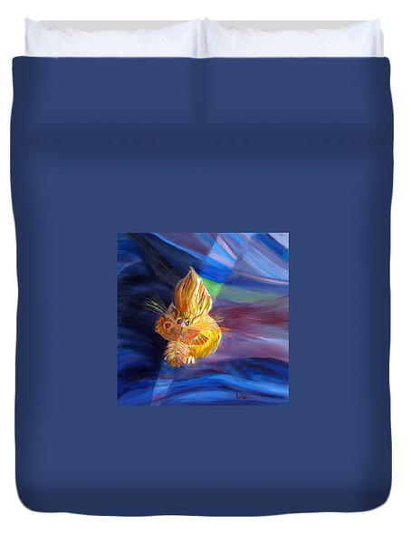 Who Me? What Birdie? Duvet Cover by LaVonne Hand