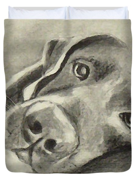 Why Are You Waking Me Up? Duvet Cover by Marcello Cicchini