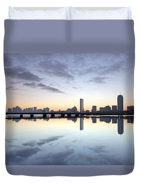 Why So Quiet Boston Duvet Cover by Juergen Roth
