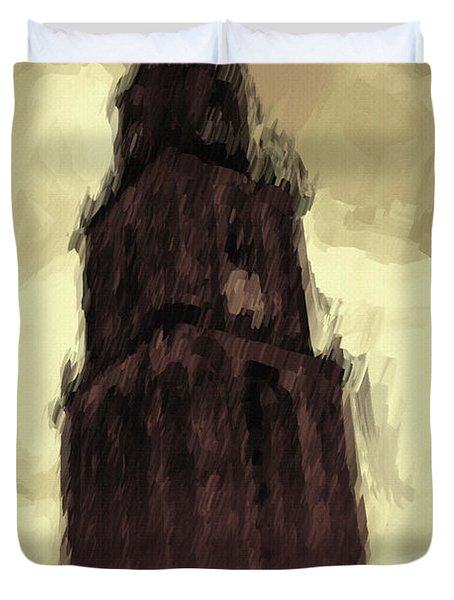 Wicked Tower Duvet Cover by Ayse Deniz