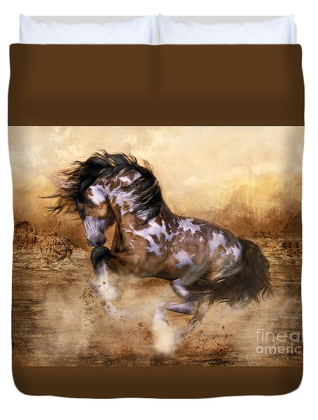 Wild And The Free Duvet Cover by Shanina Conway