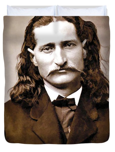 WILD BILL HICKOK PAINTERLY Duvet Cover by Daniel Hagerman