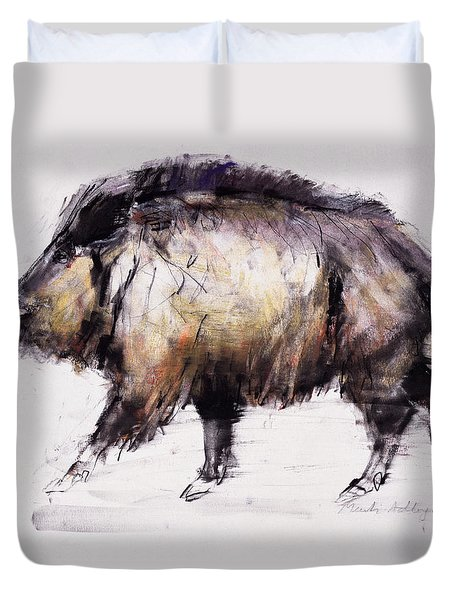 Wild Boar Duvet Cover by Mark Adlington