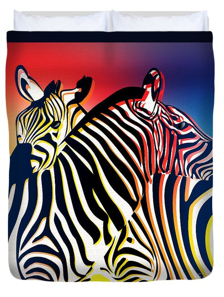 Wild Life 2 Duvet Cover by Mark Ashkenazi