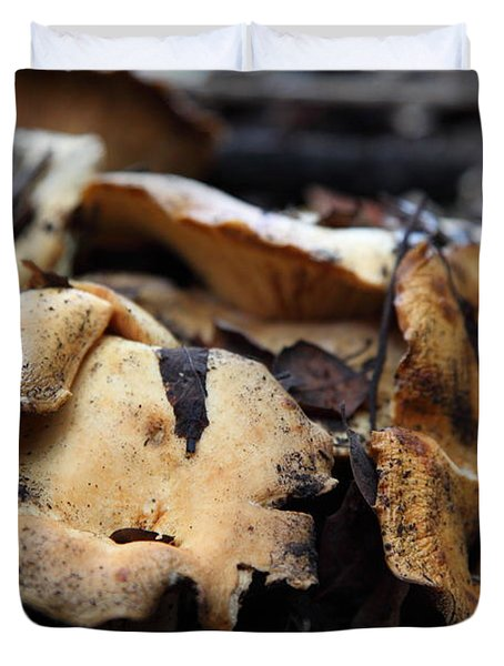 Wild Mushrooms On The Forest Floor - 5D21078 Duvet Cover by Wingsdomain Art and Photography