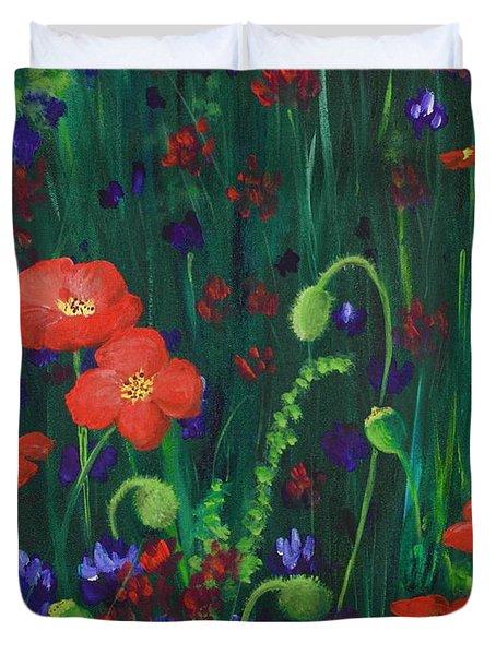 Wild Poppies Duvet Cover by Anastasiya Malakhova