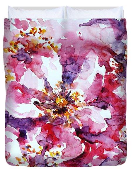 Wild Rose Duvet Cover by Zaira Dzhaubaeva