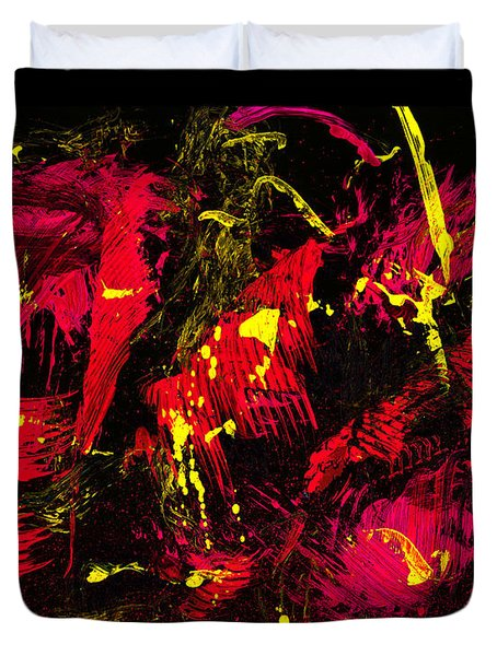 wild times - black Duvet Cover by Manuel Sueess