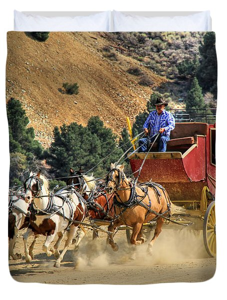 Wild West Ride 2 Duvet Cover by Donna Kennedy