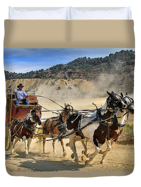 Wild West Ride Duvet Cover by Donna Kennedy