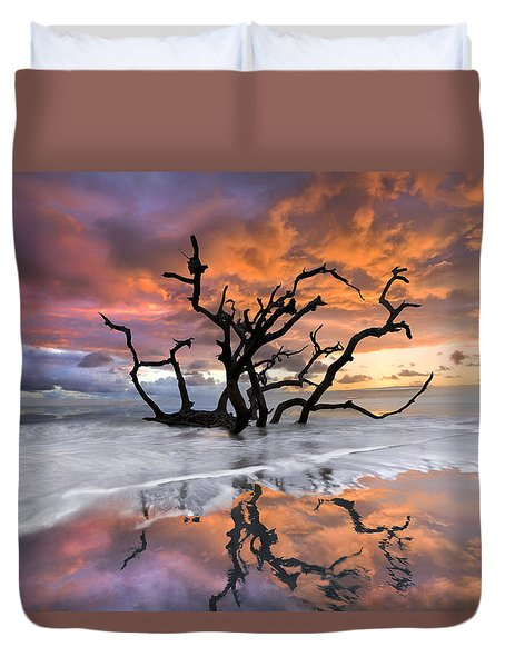 Wildfire Duvet Cover by Debra and Dave Vanderlaan