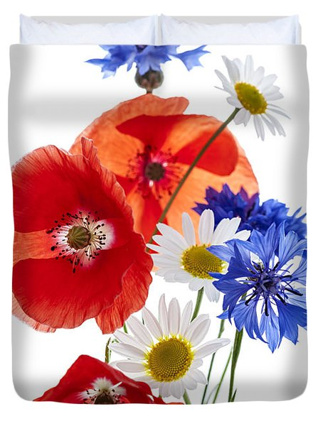 Wildflower Arrangement Duvet Cover by Elena Elisseeva