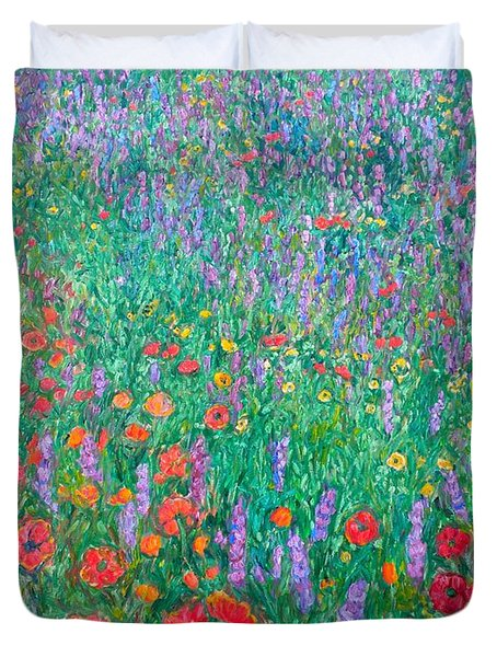 Wildflower Current Duvet Cover by Kendall Kessler