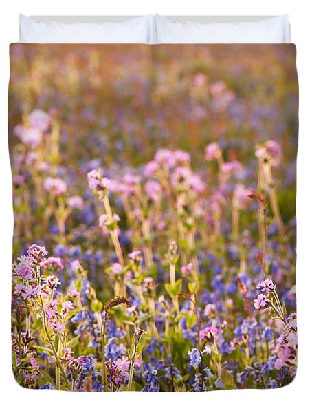 Wildflower Dusk Duvet Cover by Anne Gilbert