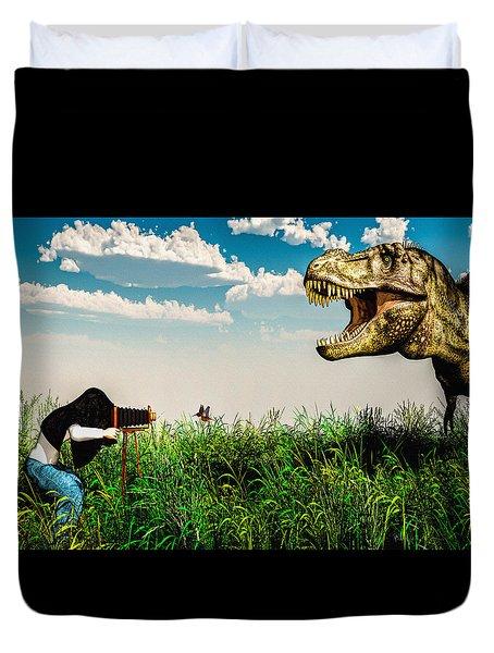 Wildlife Photographer Duvet Cover by Bob Orsillo