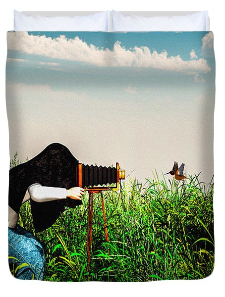 Wildlife Photographer  Duvet Cover by Bob Orsillo