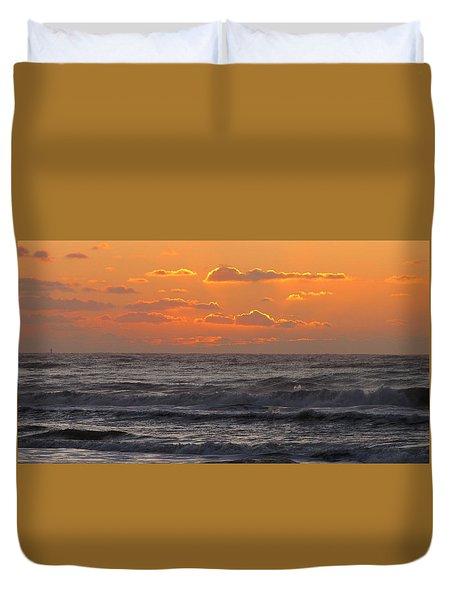 Wildwood Beach Just Before Dawn Duvet Cover by David Dehner