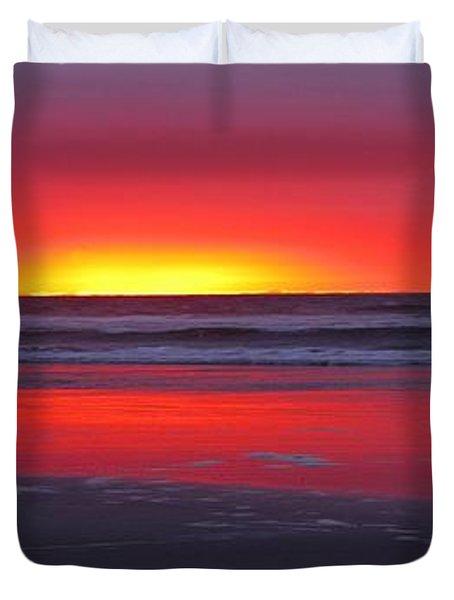 Wildwood Sunrise Dreaming Duvet Cover by David Dehner