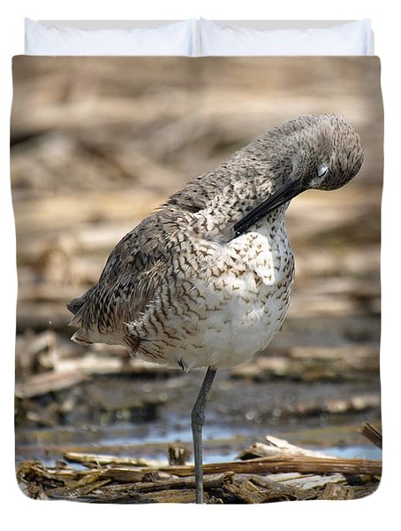 Willet Duvet Cover by James Peterson