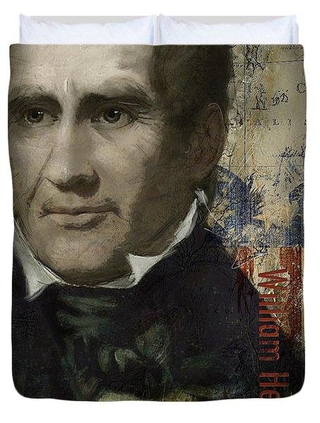 William Henry Harrison Duvet Cover by Corporate Art Task Force
