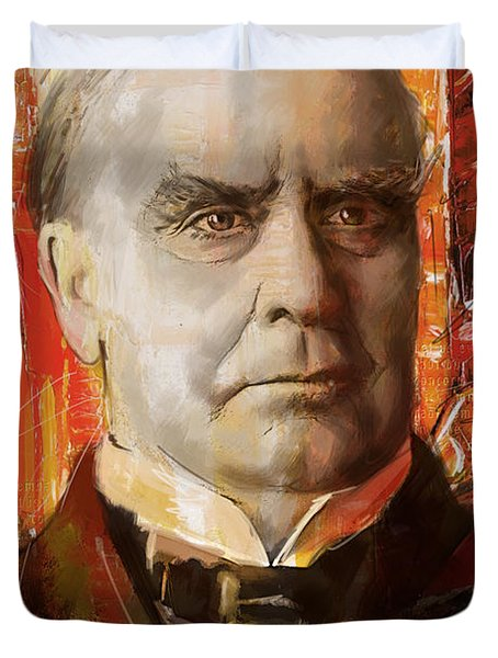 William McKinley Duvet Cover by Corporate Art Task Force
