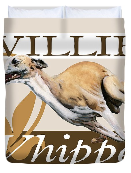 Willie the Whippet Duvet Cover by Liane Weyers