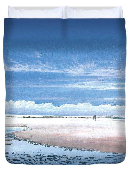 Winchelsea Beach Duvet Cover by Steve Crisp