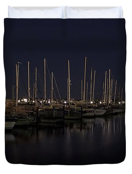 WINCHESTER BAY MARINA - OREGON COAST Duvet Cover by Daniel Hagerman