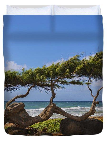 Wind Blown Tree 2 - Kauai Hawaii Duvet Cover by Brian Harig