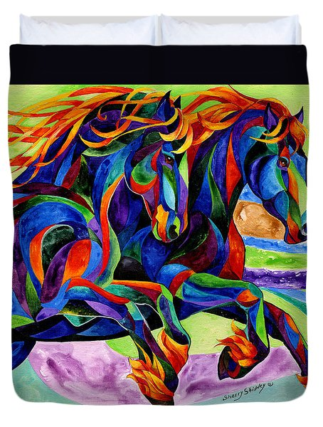 Wind Dancers Duvet Cover by Sherry Shipley