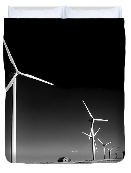 Wind Farm Duvet Cover by Trever Miller