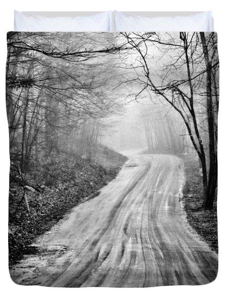 Winding Dirt Road Duvet Cover by Karol Livote