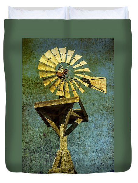 Windmill Abstract Duvet Cover by Garry Gay