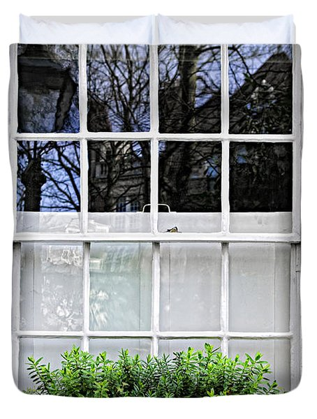 Window in London Duvet Cover by Elena Elisseeva