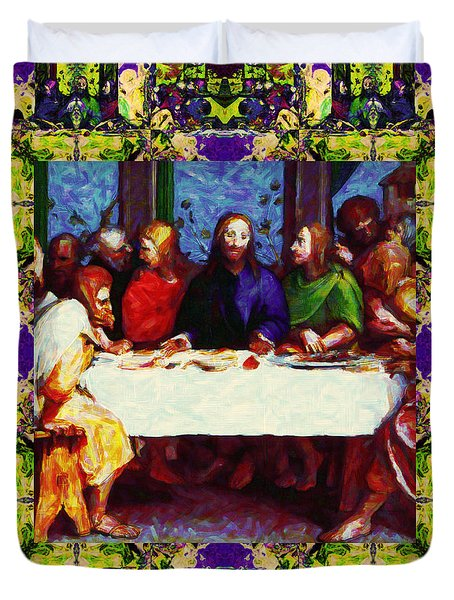 Window Into The Last Supper 20130130m138 Duvet Cover by Wingsdomain Art and Photography