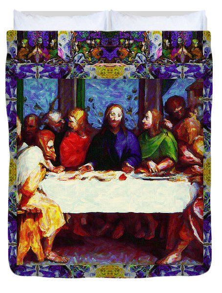 Window Into The Last Supper 20130130p28 Duvet Cover by Wingsdomain Art and Photography