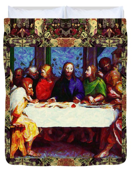 Window Into The Last Supper 20130130sep Duvet Cover by Wingsdomain Art and Photography