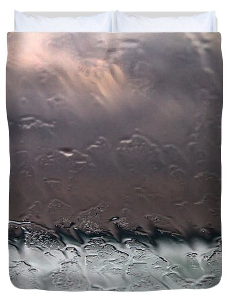 Window Sea Storm Duvet Cover by Stelios Kleanthous